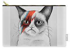Grumpy Cat As David Bowie Carry-all Pouch