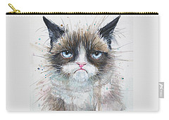 Grumpy Cat Watercolor Painting  Carry-all Pouch