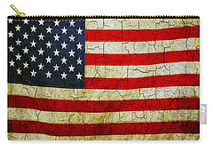 Grunge American Flag  Carry-all Pouch
