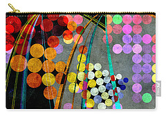 Carry-all Pouch featuring the digital art Grunge City Lights by Fran Riley