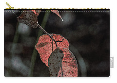 Carry-all Pouch featuring the photograph Grungy Leaves by Elaine Teague
