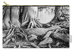 Guadalupe Bald Cypress In Black And White Carry-all Pouch