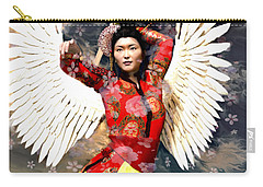 Guardian Angel 8 Carry-all Pouch by Suzanne Silvir