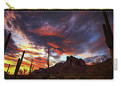 Carry-all Pouch featuring the photograph Guardians Of The Mountain by Rick Furmanek