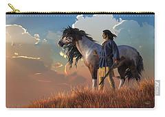 Guardians Of The Plains Carry-all Pouch by Daniel Eskridge