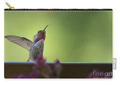 Carry-all Pouch featuring the photograph Guarding The Turf by Anne Rodkin