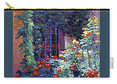 Guesthouse Rose Garden Carry-all Pouch by David Lloyd Glover