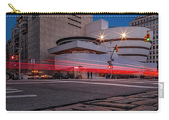 Carry-all Pouch featuring the photograph Guggenheim Museum Nyc  by Susan Candelario