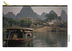 Carry-all Pouch featuring the photograph Guilin Limestone Peaks by Travel Pics