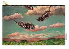 Guinea Feathers Carry-all Pouch