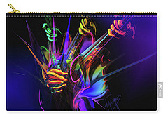 Carry-all Pouch featuring the painting Guitar 3000 by DC Langer