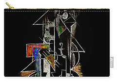Guitar Abstract In Black Carry-all Pouch