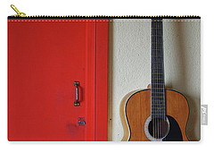 Guitar And Red Door Carry-all Pouch