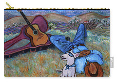 Guitar Doggy And Me In Wine Country Carry-all Pouch