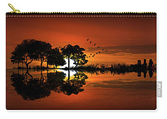 Guitar Landscape At Sunset Carry-all Pouch