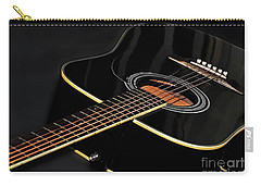Carry-all Pouch featuring the photograph Guitar Low Key By Kaye Menner by Kaye Menner