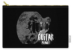Carry-all Pouch featuring the photograph Guitar Planet  by Guitar Wacky