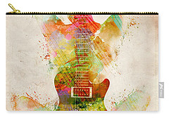 Carry-all Pouch featuring the digital art Guitar Siren by Nikki Smith