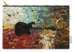 Carry-all Pouch featuring the painting Guitar Story by Carmen Guedez
