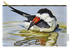Gulf Coast Black Skimmer Carry-all Pouch by Phyllis Beiser