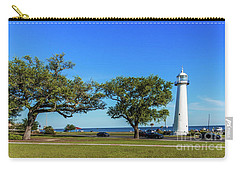 Gulf Coast Lighthouse Seascape Biloxi Ms 3663b Carry-all Pouch