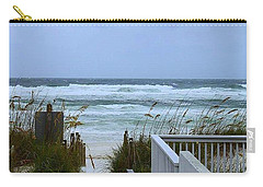 Carry-all Pouch featuring the photograph Gulf Coast Waves by Debra Forand