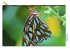 Gulf Fritillary On Butterfly Bush Carry-all Pouch