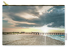 Gulf Shores Al Pier Seascape Sunrise 152c Carry-all Pouch