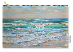 Gulf Wave Carry-all Pouch by Linda Olsen