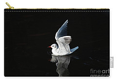 Gull On The Water Carry-all Pouch by Michal Boubin
