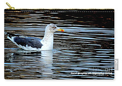 Gull On Winter's Pond  Carry-all Pouch