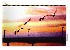 Carry-all Pouch featuring the photograph Gull Play by Sadie Reneau