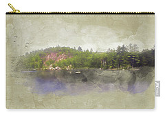 Carry-all Pouch featuring the digital art Gull Pond by Christopher Meade