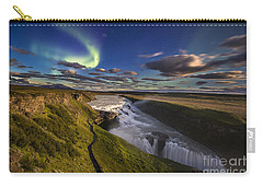 Gullfoss Iceland Carry-all Pouch by Gunnar Orn Arnason