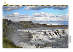 Carry-all Pouch featuring the photograph Gullfoss Waterfall Iceland Vi by Marianne Campolongo