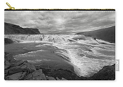 Carry-all Pouch featuring the photograph Gullfoss Waterfall No. 1 by Joe Bonita
