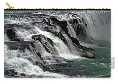 Carry-all Pouch featuring the photograph Gullfoss Waterfalls, Iceland by Dubi Roman