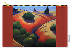 Carry-all Pouch featuring the painting Gully by Gary Coleman