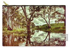 Carry-all Pouch featuring the photograph Gum Creek V2 by Douglas Barnard