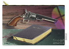 Gun And Bibles Carry-all Pouch