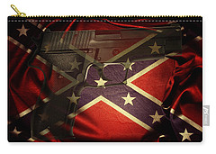 Gun And Flag Carry-all Pouch by Les Cunliffe