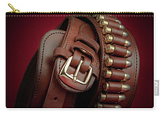 Carry-all Pouch featuring the photograph Gunbelt Bandolier by Tom Mc Nemar