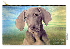 Gunshy Weimaraner Looking For Loving Home Carry-all Pouch