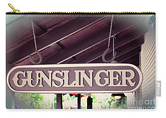 Carry-all Pouch featuring the photograph Gunslinger by Ella Kaye Dickey