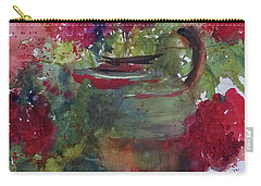 Gurko Geraniums Carry-all Pouch by Sandra Strohschein
