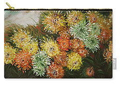 Gusty Chrysanthemums Carry-all Pouch