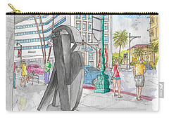Guy Dill's Sculpture From The Belgian Suite, In Wilshire Blvd., Beverly Hills, California Carry-all Pouch
