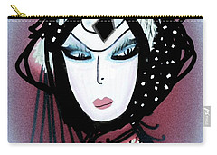 Carry-all Pouch featuring the mixed media Gypsie by Ann Calvo