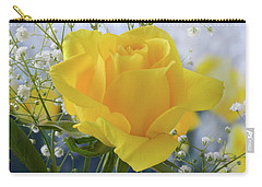 Carry-all Pouch featuring the photograph Gypsophila And The Rose. by Terence Davis