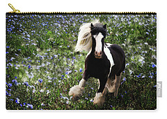 Carry-all Pouch featuring the digital art Gypsy Garden by Melinda Hughes-Berland